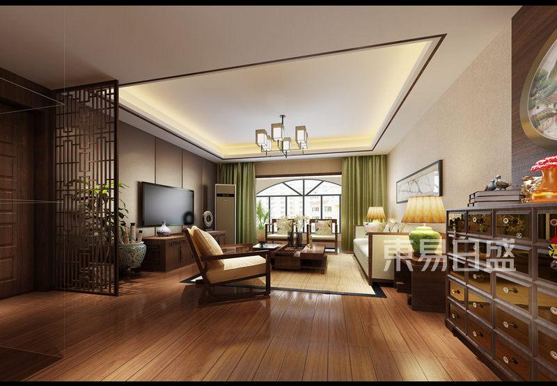 华联城市全景花园 新中式风格 150平米户型设计