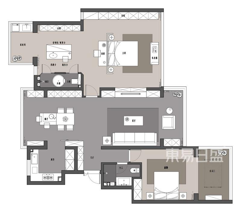 萬合名著160平三室兩廳戶型解析
