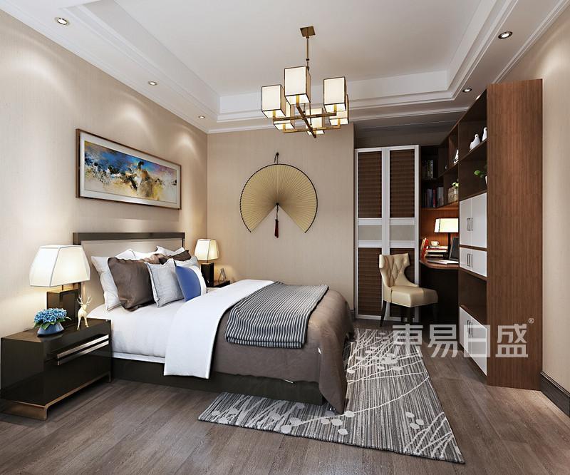 中式风格三室二厅主卧装修