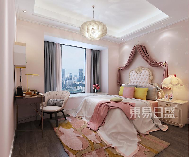 中式风格三室二厅儿童房装修