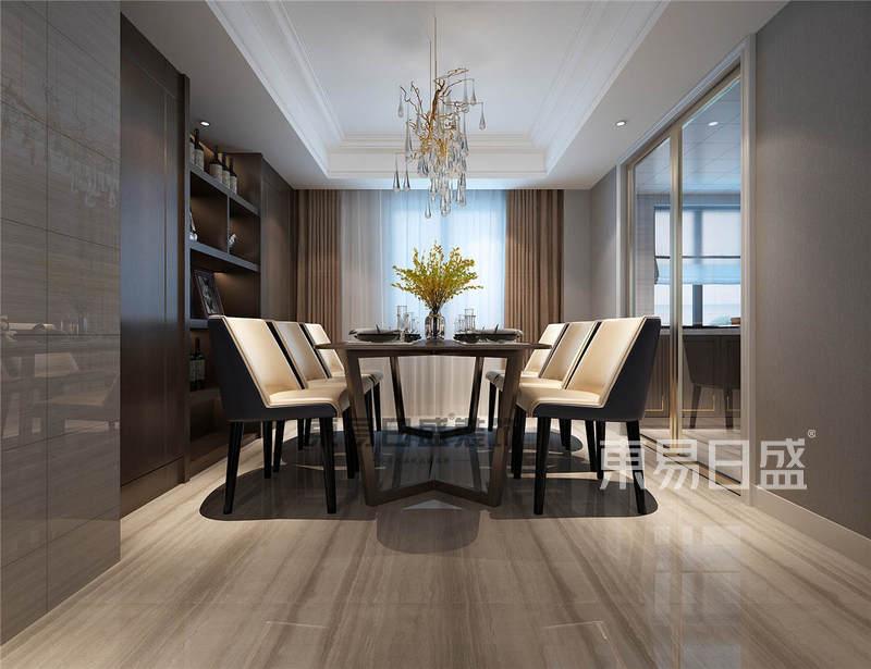 南京武夷綠洲203平聯排別墅現代美式風格裝修案例效果