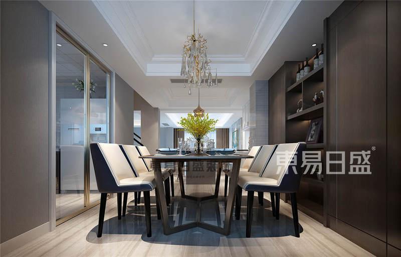 南京武夷绿洲203平联排别墅现代美式风格装修案例效果