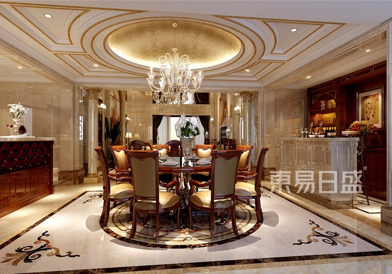 古典欧式设计风格装修效果图-餐厅