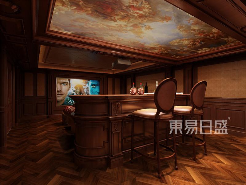 丰华悦园-380㎡-欧式古典风格-别墅-多功能影音室(图7)