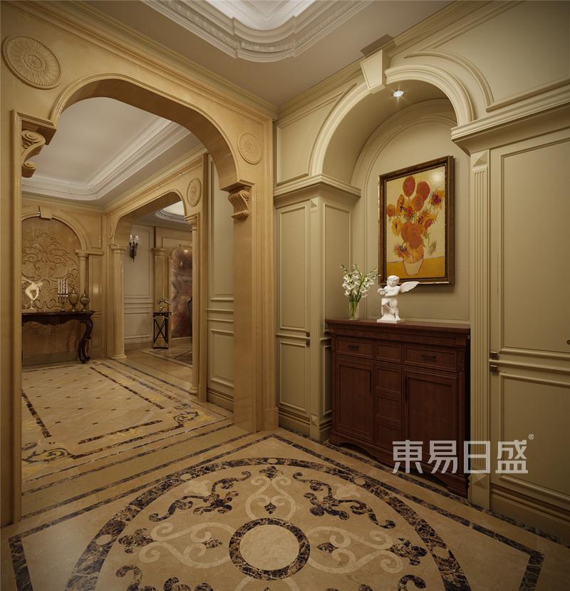 丰华悦园-380㎡-欧式古典风格-别墅-过道(图4)