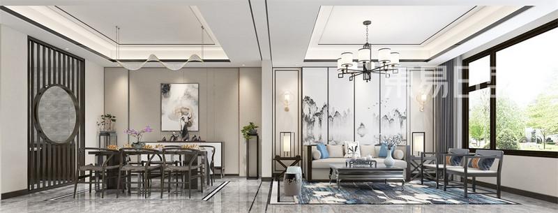 新中式风格-客厅装修效果图
