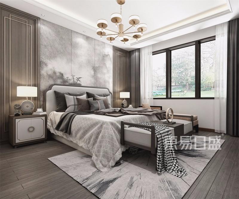 新中式风格-卧室装修效果图