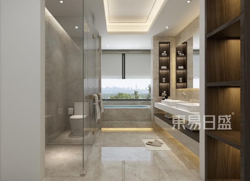 简单大方的房屋卫生间装修效果图