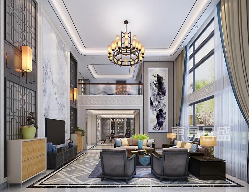 时尚中式客厅装修效果图
