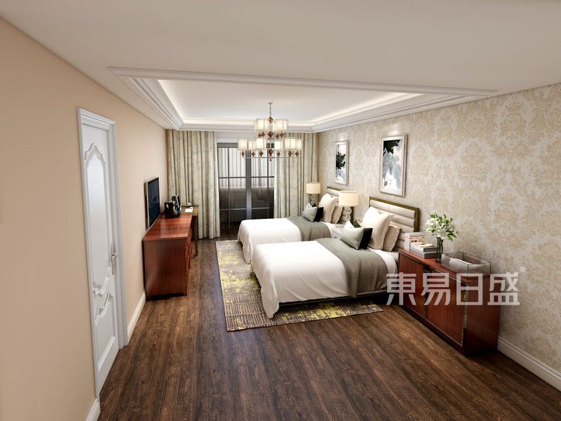卧室·户型分析:利用空间的长度优点,设计了老人房。.jpg