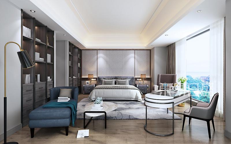 现代风格主卧室装修设计