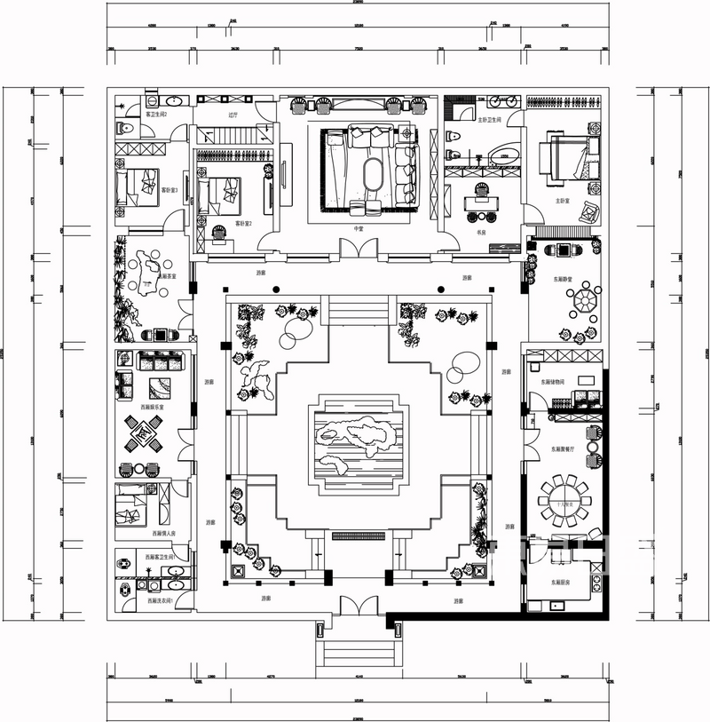 600m2四合院古典中式案列解析
