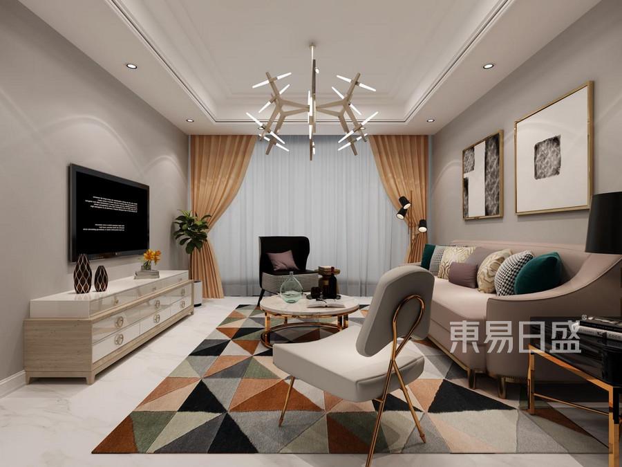 熙悦尚郡 北欧风格 客厅装饰效果图