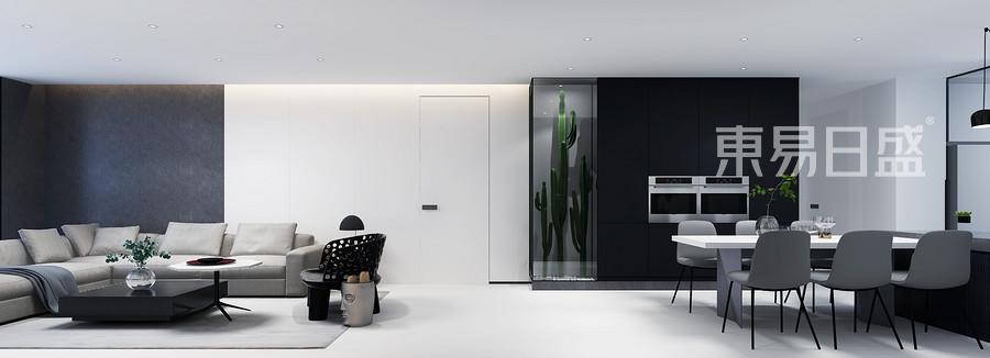 現代化簡約的氣息在這里撲面而來,植物柜像一抹綠意點綴歸家時舒適的心情,設計師就用自己的巧思