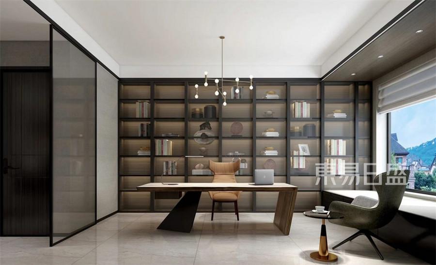 极简风格-书房装修效果图