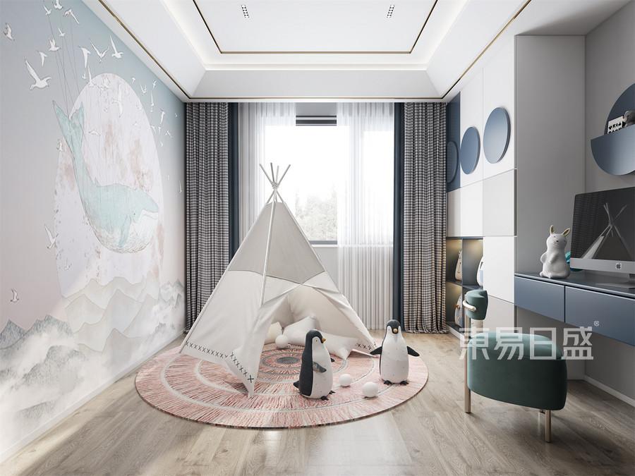 现代轻奢风格儿童房装修效果图