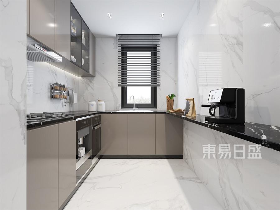 现代轻奢风格厨房装修效果图