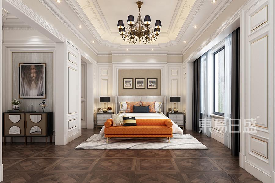 别墅-简欧设计案例-卧室装修效果图