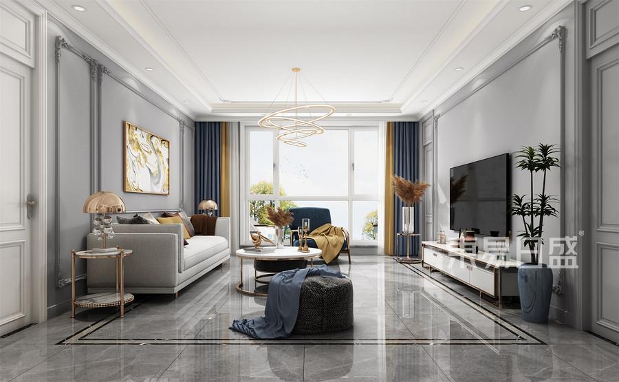 三居室-客厅装修效果图