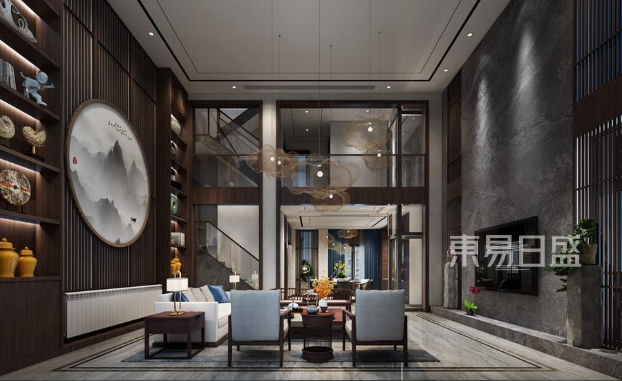 別墅-新中式-效果圖