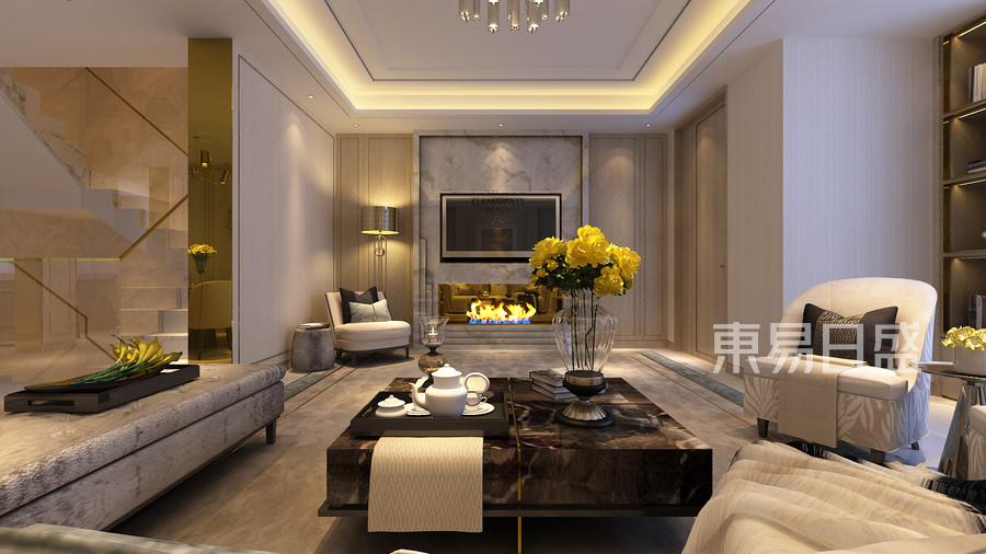 上海飘鹰锦和别墅-328平-欧式古典1楼客厅