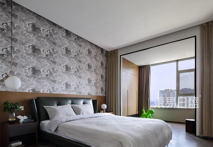 上海华润中央公园142平现代风格卧室