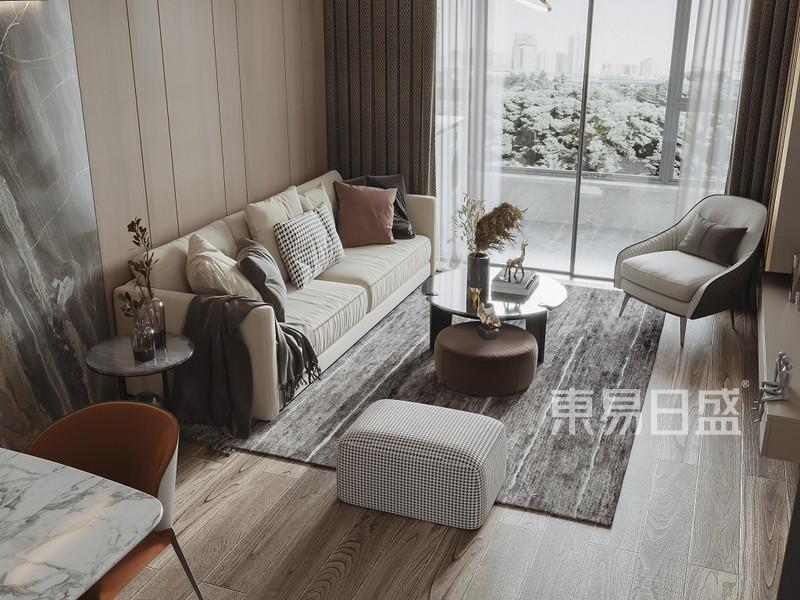 上海玫瑰公馆90平现代风格客厅