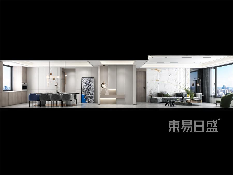 現代輕奢風格-客廳裝修效果圖