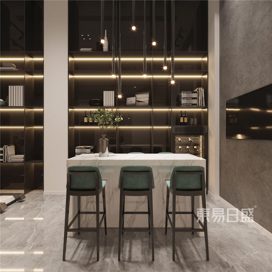 卓越维港200㎡别墅现代简约装修效果图案例