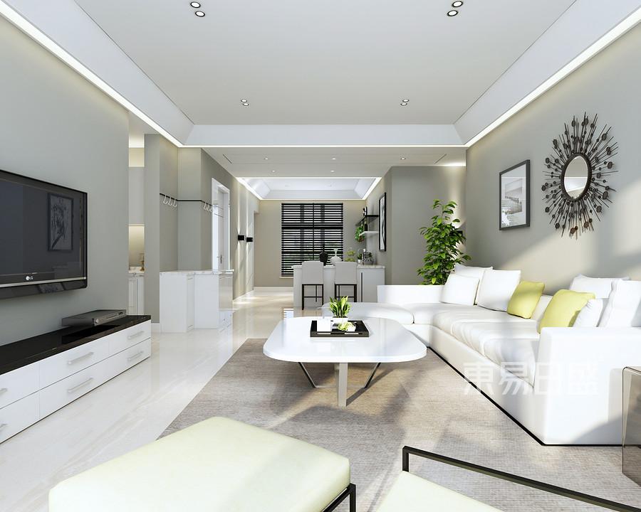 我家的厨房_客厅:客厅采用了无主灯设计增加了灯光的层次感效果图_2021装修 ...