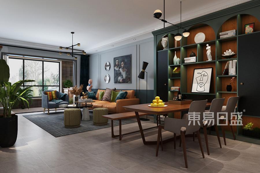 美式新古典风格客厅装修设计