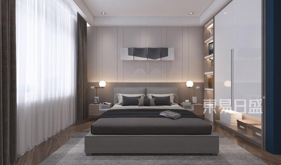 金地格林郡-現代簡約設計案例-臥室裝修效果圖