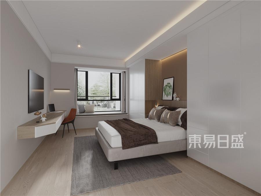 上海建德花园玫瑰园91平日式风格装修设计