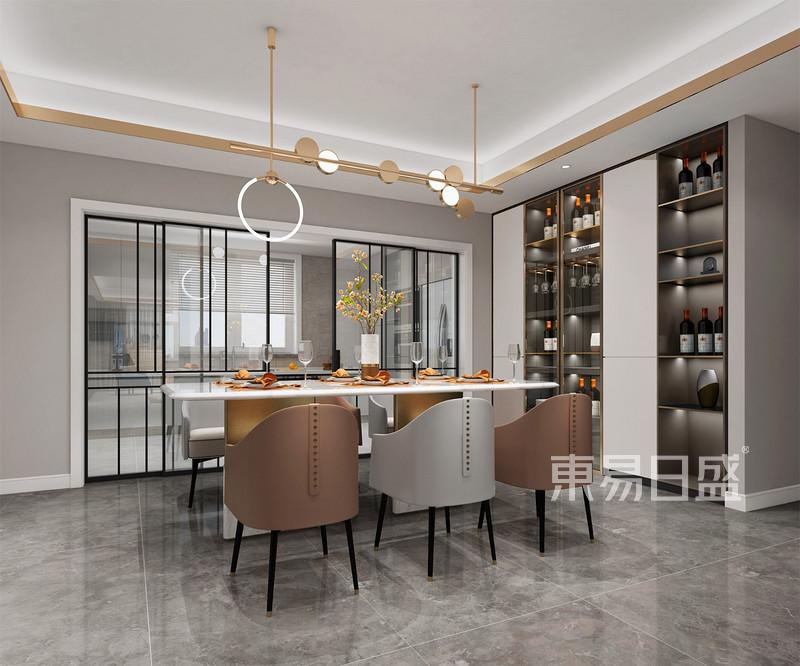 现代轻奢风格餐厅装修效果图
